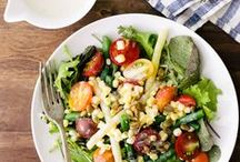 Salads and Side Dishes.  / Side dishes, salads - hot and cold side dish recipes.  / by The Pretty Bee (Recipes)