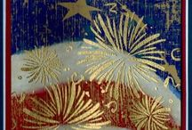 Stampin UP - red white & blue