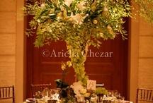 green/white wedding