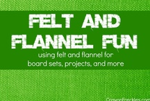 Felt and Flannel Fun / Collaborative board of several kid bloggers of activities that can be done using felt or flannel for crafts or boards