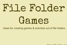File Folder Games / This is a collaborative board on file folder games and activities created by numerous bloggers. / by Andie Jaye from Crayon Freckles
