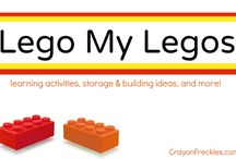 Lego my Legos / This is a collaborative board created by numerous bloggers on any and all lego-related projects. / by Andie Jaye from Crayon Freckles