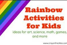 Rainbow Activities for Kids / Color-based activities and projects for kids