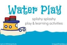 Water Play / splishy splashy play and learning activities