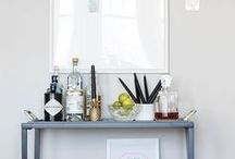 Bar Cart + Cocktails / images of bars and bar carts | cocktail recipes