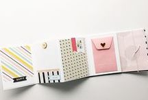 Mini-albums / Craft your own miniature albums to hold photos and/or mementos