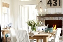 Home - White & Wood Dining Rooms / by Gloria McMahon