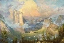 Early Years / Paintings by Thomas Kinkade from his earlier years as a struggling artist.  He loved to capture to beauty of nature in bold landscape settings and developed his technique of capturing light that would soon become his hallmark.
