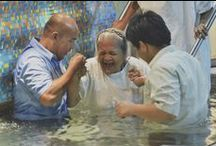 Water Baptism / The ordinance of baptism by immersion is commanded in the Scriptures. All who repent and believe in Jesus Christ as Lord and Savior are to be baptized.  When we are baptized in water we declare to the world that we have died with Christ and that we have been raised with Him to walk in the newness of life. (Matthew 28:19, Romans 6:3-4)