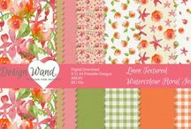 scrapbooking pattern printable / Patterns to download and print @ designwand.etsy.com