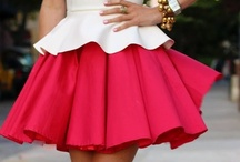 Peplum / The resurgence of the lovely peplum in fashion. Flower-like and lovely, a peplum is a short over-skirt to add hip flair.