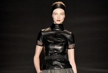 Leather  / Leather and all if it's sexiness. Outerwear and the occasional pant (2013 rtw trend)