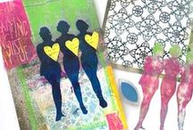 Fun with Stencils / All about stencils, art with stencils, fun ways to use stencils, anything stencil related!