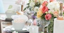 How to Host Easter / Celebrate Easter with charming decorations, gorgeous centerpieces and essential serverware. Hop to it!