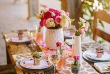Flower tablescapes