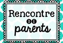 Rencontres de parents / Idées pour la rencontre des parents