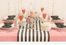 Glam striped wedding
