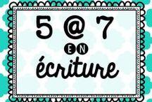 5 à 7 - Sujets d'écriture