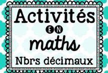 Mathématique : les nombres décimaux