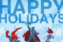 Marvel Holiday E-Cards