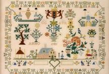 Reproduction Cross Stitch Samplers / These are classic patterns that are now redistributed so you can recreate them for yourself / by Stitch and Frog Cross Stitch