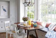 breakfast nooks. / interior design, residential, home decor