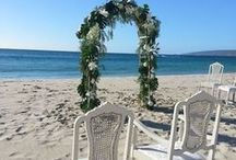 Smiths Beach Wedding Ceremony / Wedding styling at beach by Cape Of Love