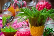 Tropical Luau  / Aloha shirts, grass skirts, flowery leis and tiki torches...  The luau is a colorful and casual party theme that all ages are sure to enjoy. Tropical parties are always a hit, and feature a hula contest and you're sure to set the scene for fun.