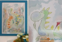 Kids home style: paintings, drawings, and wallpapers