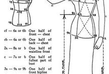 Measurement Charts / Measurement Charts to help with sewing clothing for women, men, children and toddlers