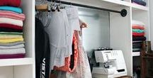 Sewing Spaces / Ideas and inspiration for sewing rooms / spaces... both large and small