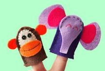 Puppets / All sorts of puppets... finger puppets, glove puppets etc. To make for kids and with kids