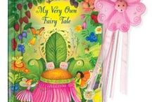 My Very Own Fairy Tale / Fairies bring letters one by one to spell out your child's first and last name in rhyme. At the end of this beautifully illustrated story, they crown her to be their fairy princess. Available at http://www.iseeme.com/.   #iseemebooks #personalizedbooks #personalizedgifts #personalizedbabygifts