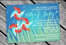 4TH OF JULY INVITATIONS / A super fun and exciting collection of Fourth of July Party invites! Great to use these for a Fireworks or BBQ Party or both!  / by Jennifer (DesignsByNyxxie)