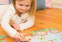 """Personalized Puzzles / Each 12"""" x 18"""" puzzle comes personalized with your child's name. These beautifully illustrated, high quality puzzles are a great way to develop cognitive skills, problem solving, fine motor skills, hand-eye coordination and self-esteem. Your child will delight in putting together the 24 pieces and seeing his or her very own name!"""