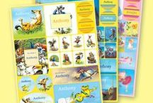 PERSONALIZED STICKERS / Personalized sticker sheets featuring your child's very own name!  Based on the artwork and illustrations from our books. / by I See Me! Personalized Children's Books