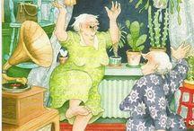Art - Illustrations - Inge Look / Inge Look's Auntie series