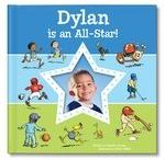 I'm an All-Star personalized book / Celebrate your favorite little athlete with this adorable new personalized storybook, 'I'm an All-Star!' Your child will learn important tips for being an All-Star all-around, including having a positive attitude, being a good sport, practicing, playing by the rules and more!