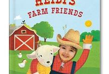 My Farm Friends Personalized Book / Your child will love exploring all the animals on the farm with this adorable personalized board book. Upload an image of your child and see his or her smiling face incorporated into every spread!
