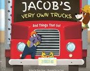 My Very Own Trucks Personalized Book / Vroom! Vroom! It's time to rev up your little one's imagination! In this uniquely personalized book, diggers, dumpers, plows and planes bring letters one by one to spell out your child's first and last name in rhyme. Your child will delight in learning all about trucks and vehicles, from A to Z!