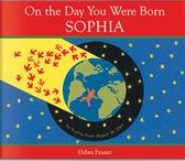 On The Day You Were Born Personalized Book / In simple words and radiant collages, Debra Frasier celebrates the natural miracles of the earth and extends an exuberant personalized welcome to your child. Accompanied by a detailed glossary explaining such natural phenomena as gravity, tides, and migration, this is an unforgettable personalized book.