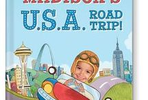 My U.S.A. Road Trip Personalized Storybook / Take your child on an engaging and educational road trip across the U.S.A. with this personalized storybook adventure. Your child receives a personalized driver's license in the story and learns the names of all 50 states!   #iseemebooks