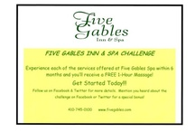 The Spa Life at Five Gables / Beauty, health, relaxation and services courtesy of The Aveda Spa at Five Gables