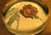 Vintage PAPERWEIGHTS / vintage paper weights oh so lovely