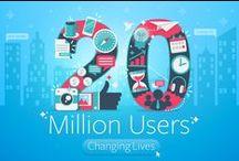 20 Million Users Design Contest / Crowdsourced design ideas from freelancers around the world