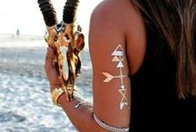 Metallic Tattoos / Add these gorgeous metallic tattoos to your look from PrincessPJewelry.com!