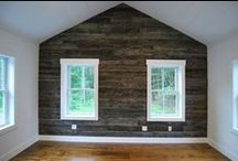 Our Favorite Wood Wallcoverings / http://thecatskillfarms.com/gallery-wall-coverings