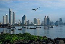 """Panama City: ¡Vaya! / Undoubtedly the most cosmopolitan capital in Central America, Panama City is both a gateway to the country's natural riches and a vibrant destination in its own right. As a thriving center for international banking and trade, Panama City sports a sultry skyline of shimmering glass and steel towers that is reminiscent of Dubai. Not surprisingly, the city residents often joke that Panama City is the """"Duabai of the Americas.""""   / by Brent Davies"""