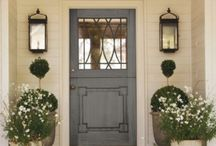 Exteriors::Front Doors / Front door inspiration  / by Glamour in the County