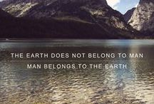 Save the Planet / Conservation and the environment.